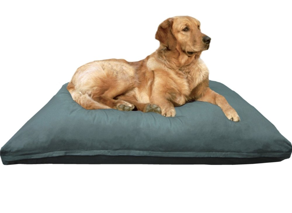 Heavy Duty XXXLarge Jumbo Overstuffed Memory Mix Foam Pet Dog Bed Pillow with Washable Canvas Cover