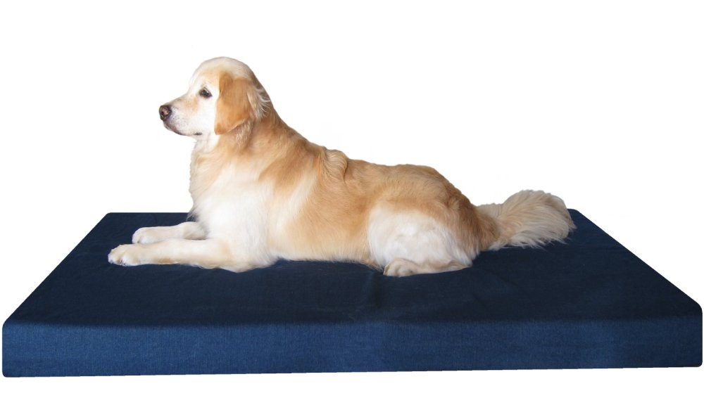 Orthopedic Big XXL Large Memory Foam Pet Dog Bed with Heavy Duty Washable Denim Cover + Extra Free Bonus Case